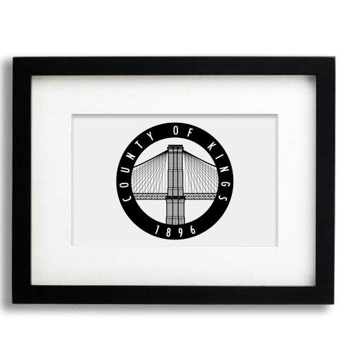 Alternate logo design for Brooklyn Nets using profile view of Brooklyn Bridge. Intended for use as sleeve patch or official seal.