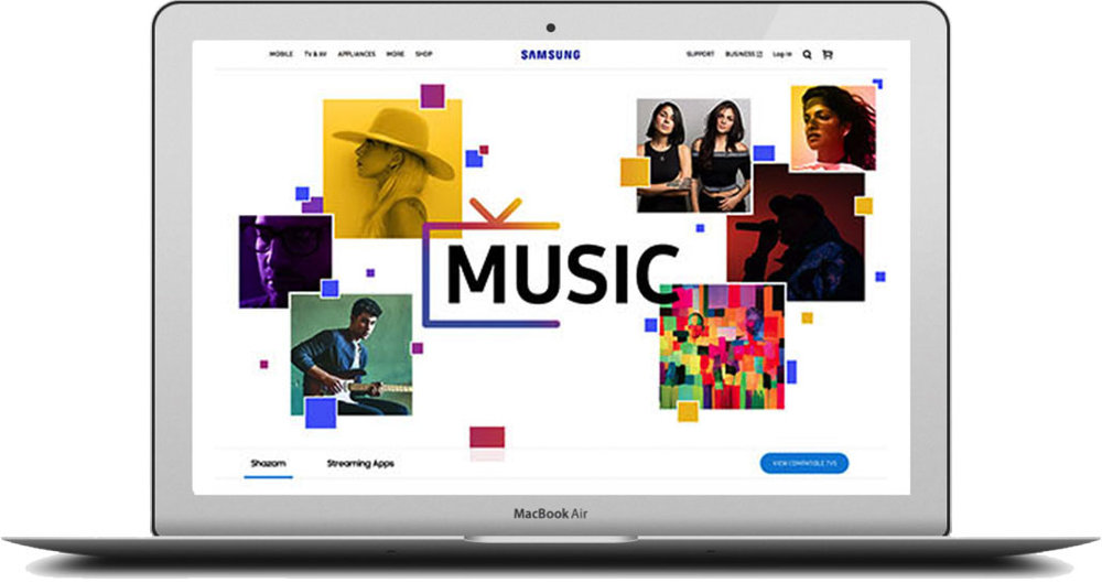 - At the same time, they also wanted to introduce their complimentary music service. We created a sister page to unveil it to the world. Click the image to see the full page.