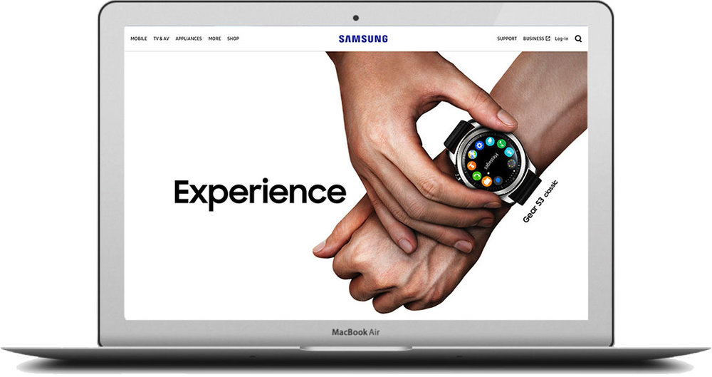 - I helped created a personalised experience across Samsung.com,so that it changed across the customer journey. It tailored to the likes and dislikes of the user, featuring influencers to add a bit of extra flavour.