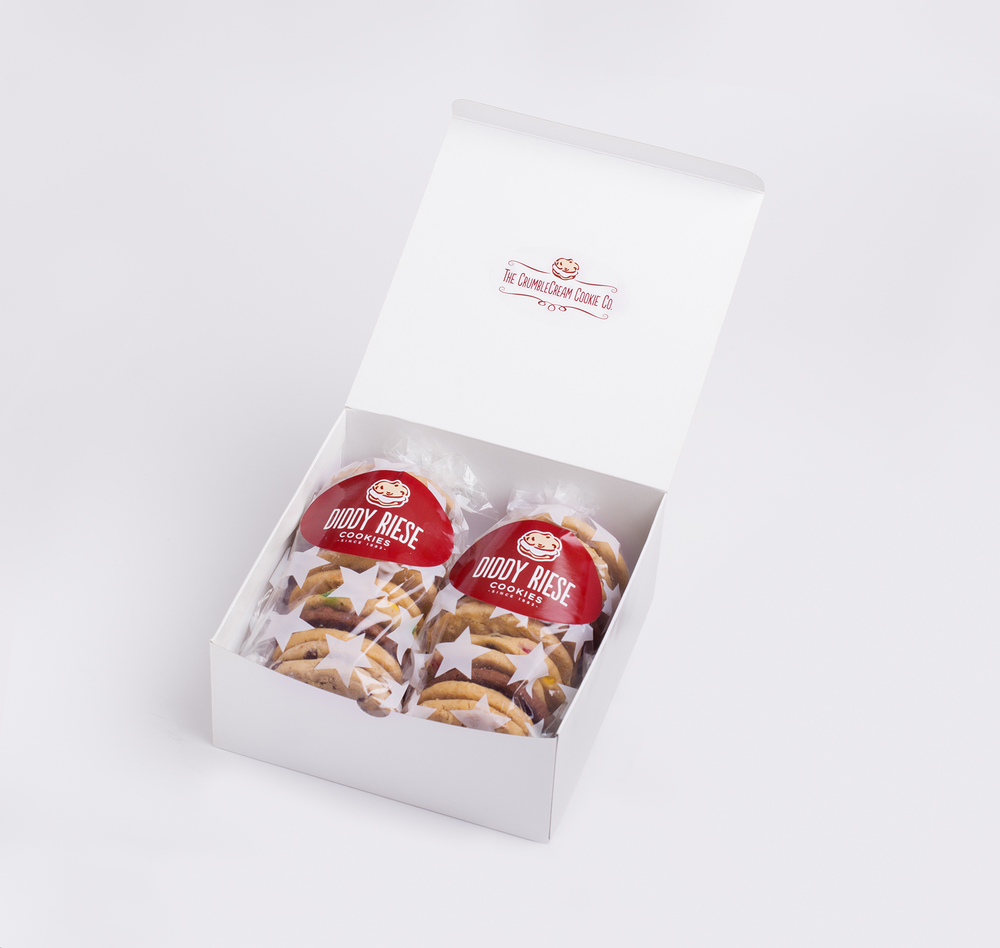 Twin Gift Box -24 cookies, customizable in single flavor, four flavors (6 & 6 per bag), or full assortment.  $14.25 + UPS shipping charge