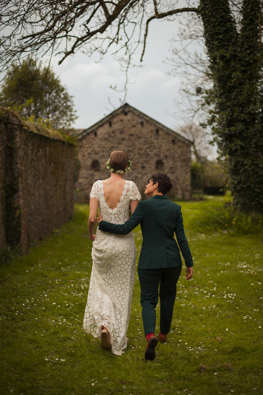 Devon Outdoor DIY Green Festival Same Sex Wedding