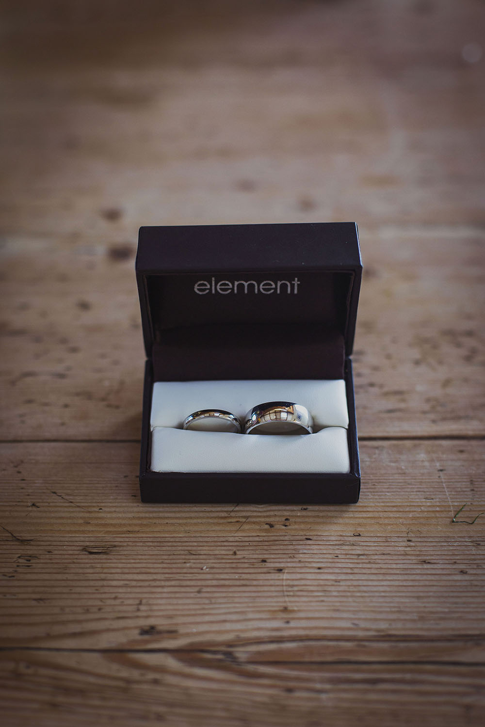 wedding rings by element at nantwen wedding venue