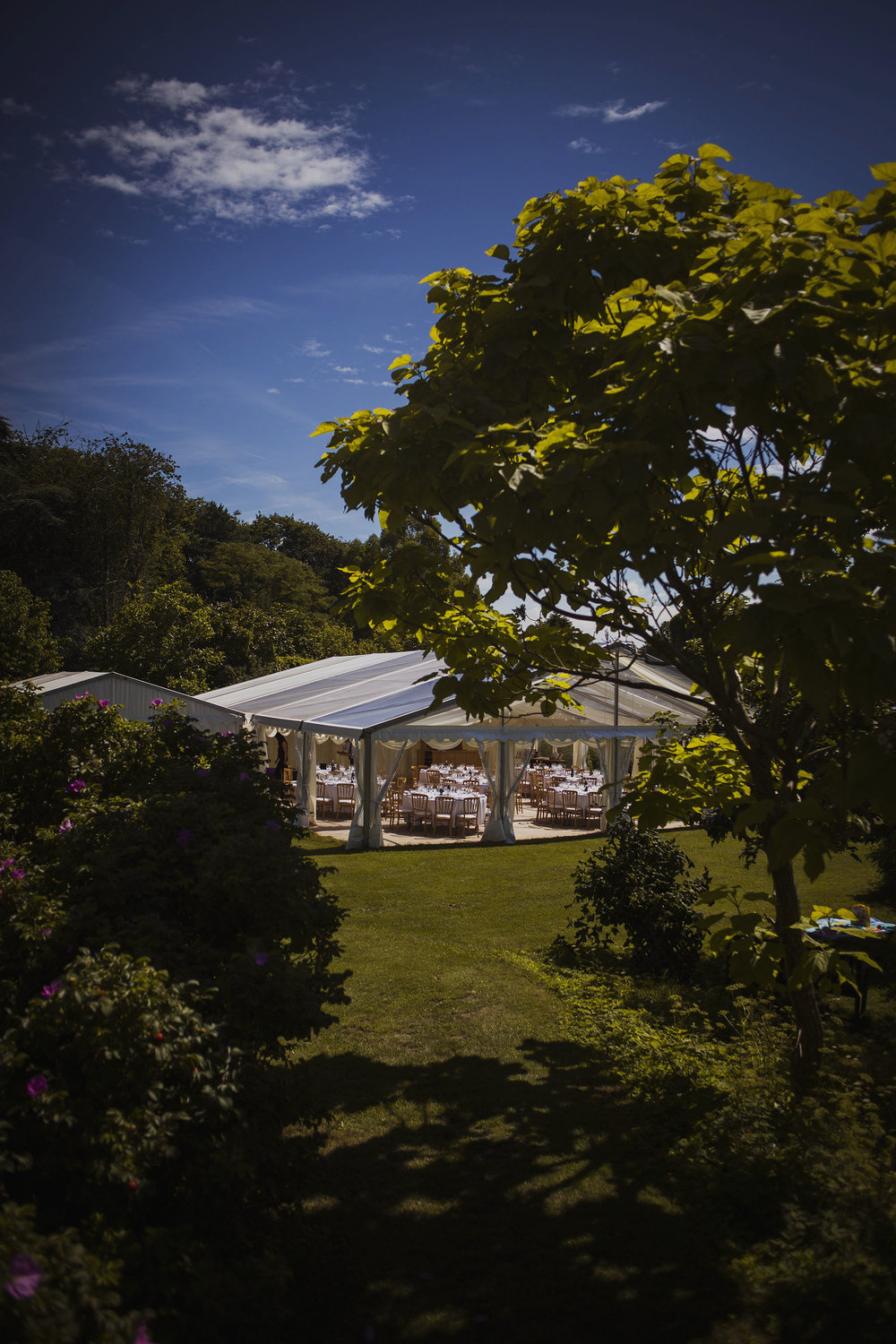 county marquee at usk castle wedding venue in south wales