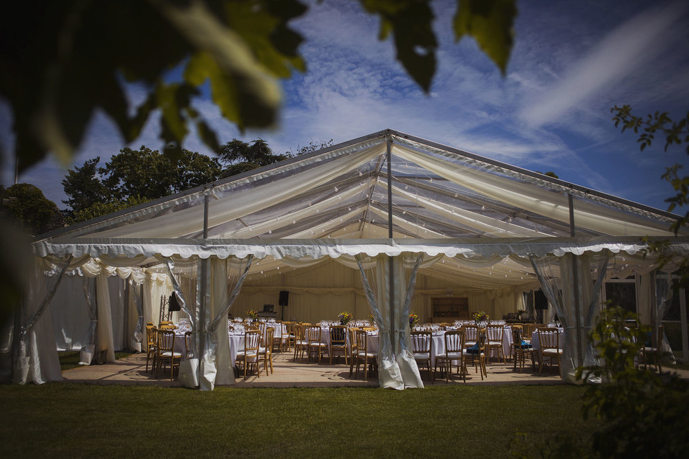 county marquee at usk castle wedding venue