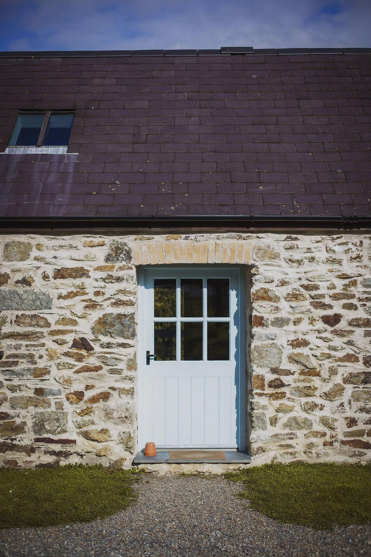 nantwen wedding venue cottage door