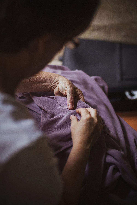 sewing wedding dress chateaux des ducs de joyeuses france destination wedding photography