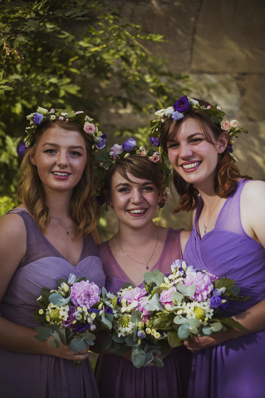 bridesmaids at chateaux des ducs de joyeuses france destination wedding photography