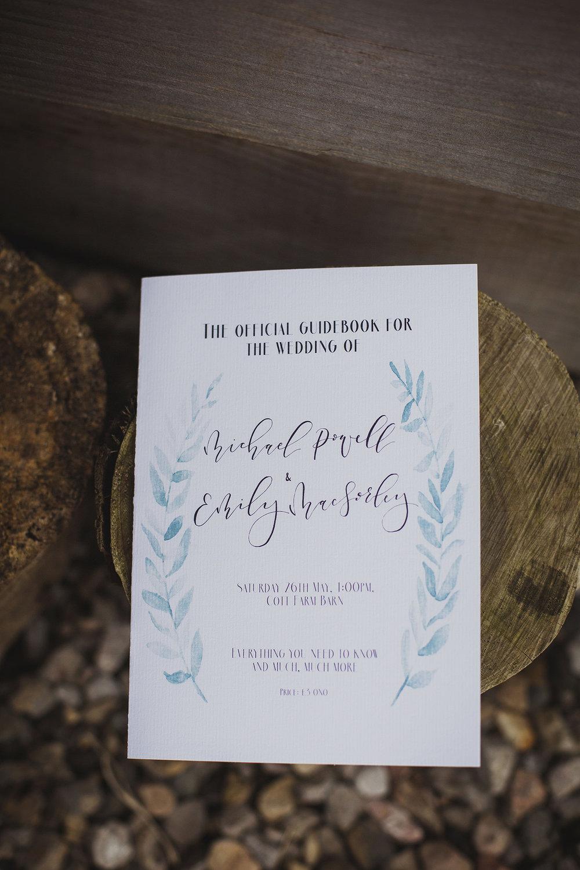 order of ceremony at cott farm barn somerset wedding