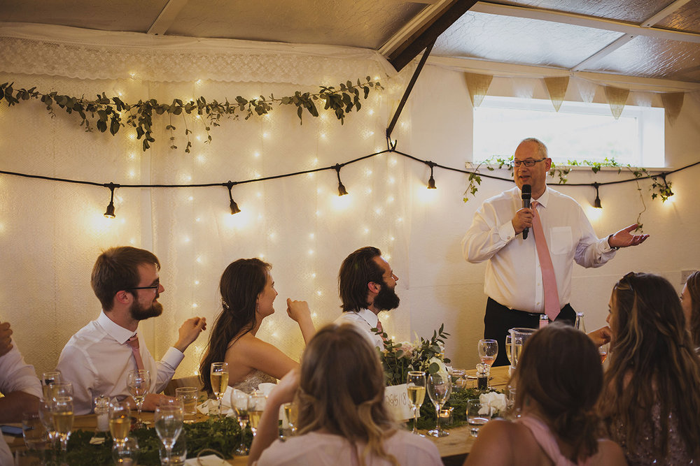 father of the bride speech at cott farm barn wedding venue somerset