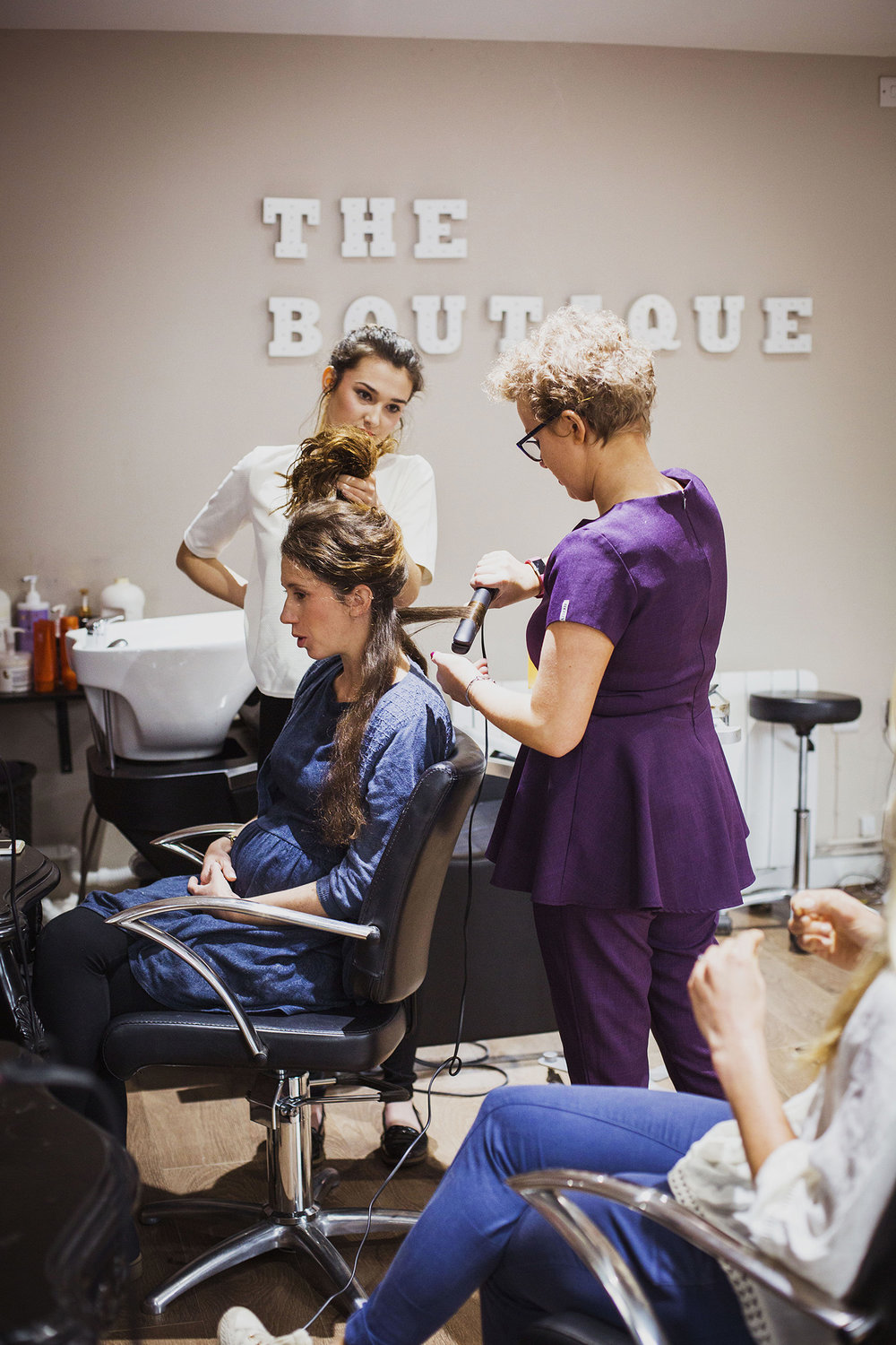 wedding hair at the boutique knowle