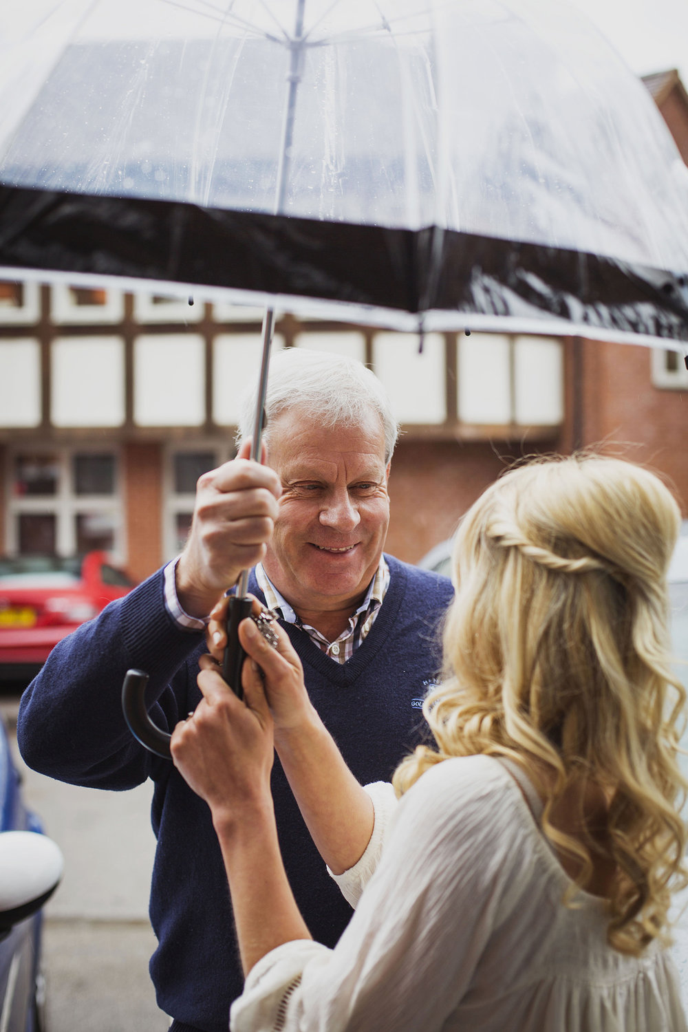 father of the bride at diy wedding in solihull