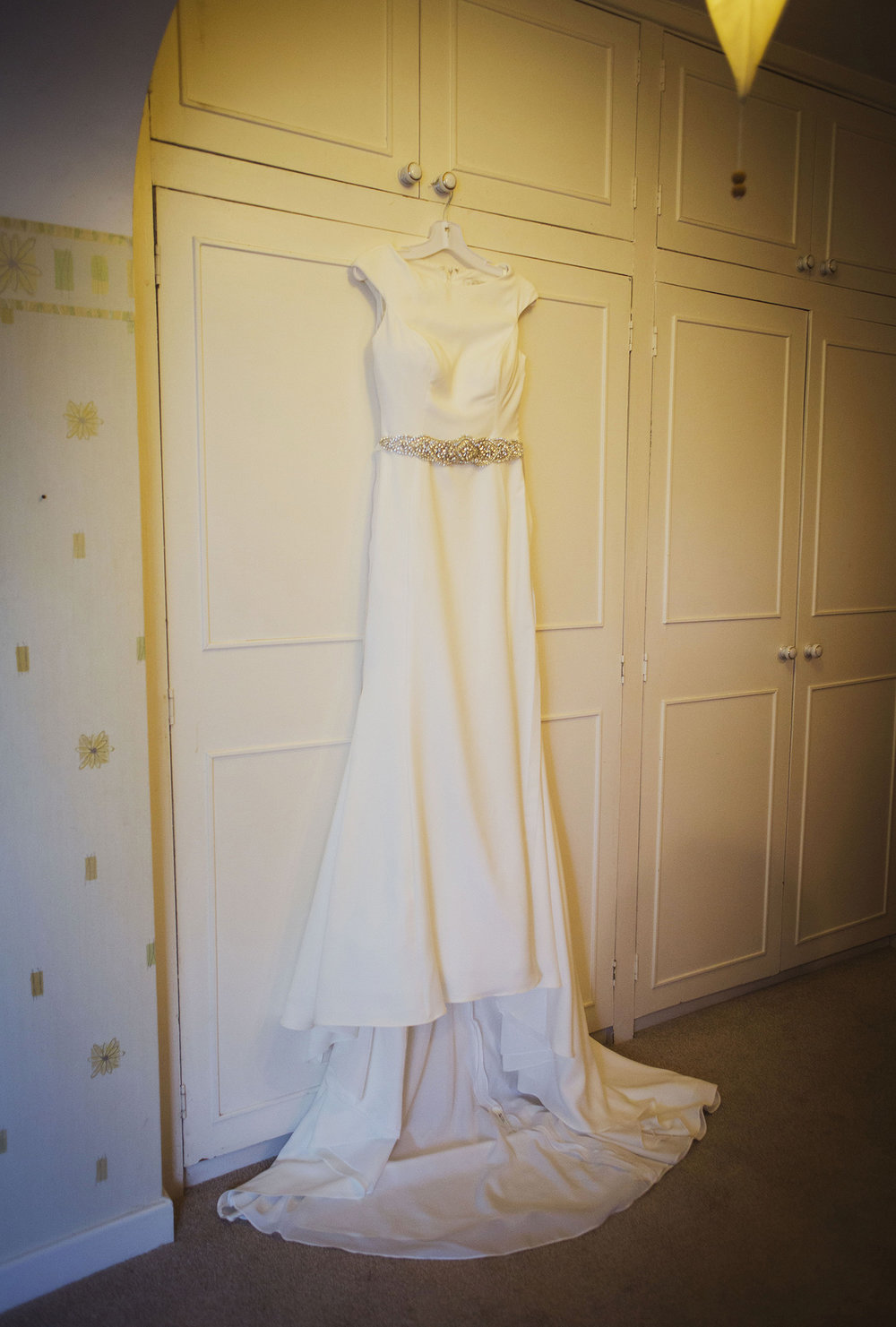wedding dress at diy wedding in midlands