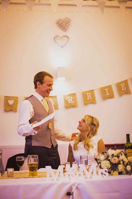 groom's speech at fentham hall diy wedding photography