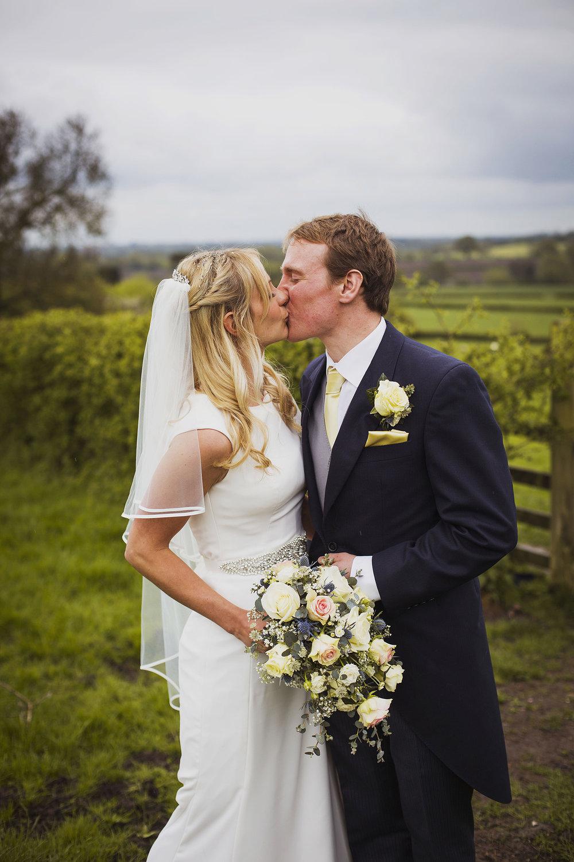 bride and groom portrait at fentham hall diy wedding