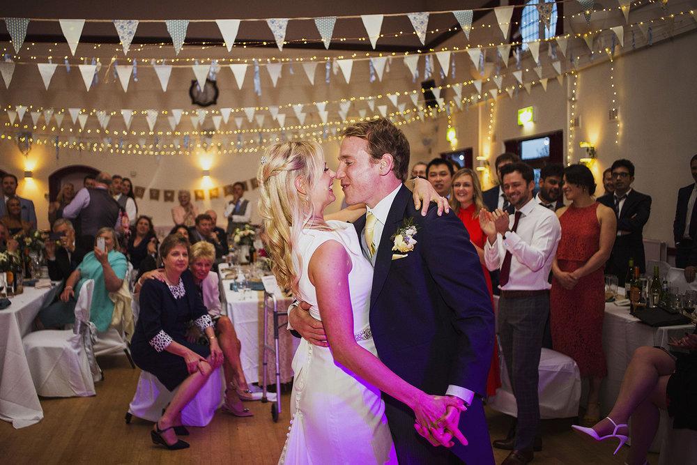 first dance bride and groom portrait at fentham hall diy wedding