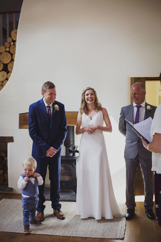 elopement wedding ceremony at nantwen