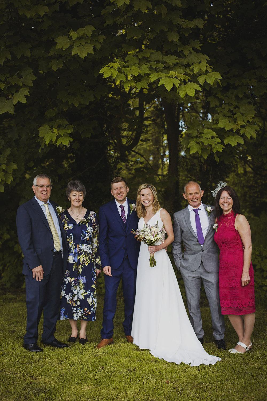 group family photos at nantwen wedding
