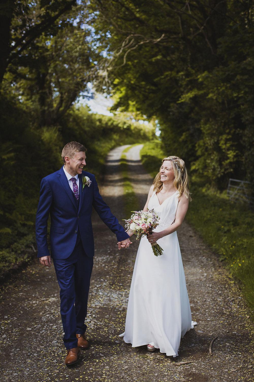 bride and groom portrait at nantwen