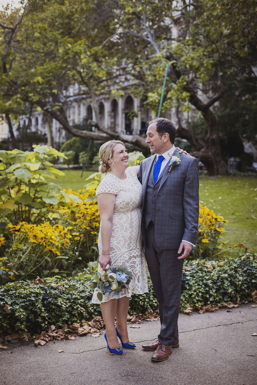 bride and groom portraits whitehall gardens london wedding photographer