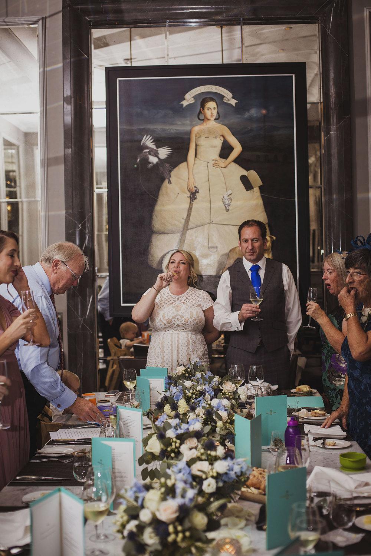 wedding breakfast in northall rooms corinthia hotel london wedding photographer