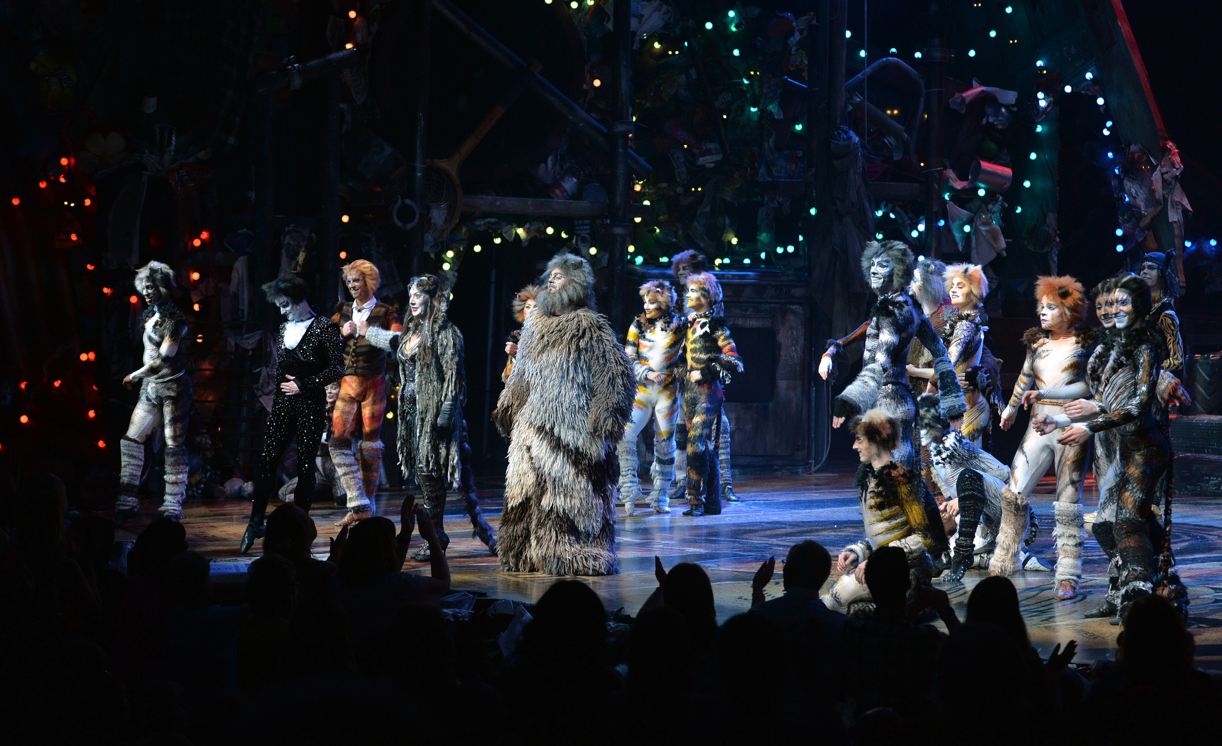 The Cats curtain call at VIP/press night at Blackpool Opera House on Wednesday July 15, 2015 (promo image subject to copyright)
