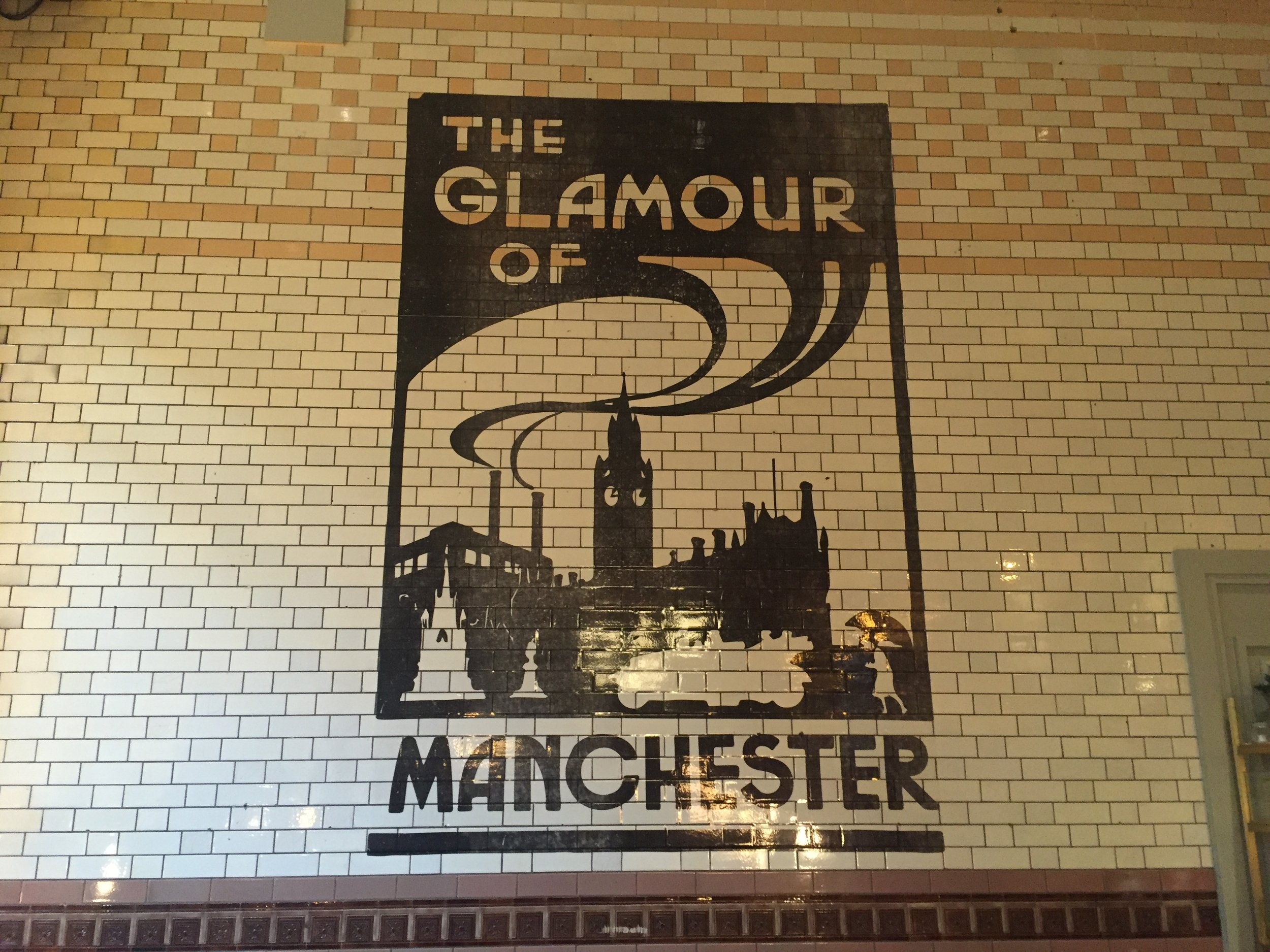 'The glamour of Manchester' mural at the Principal Hotel