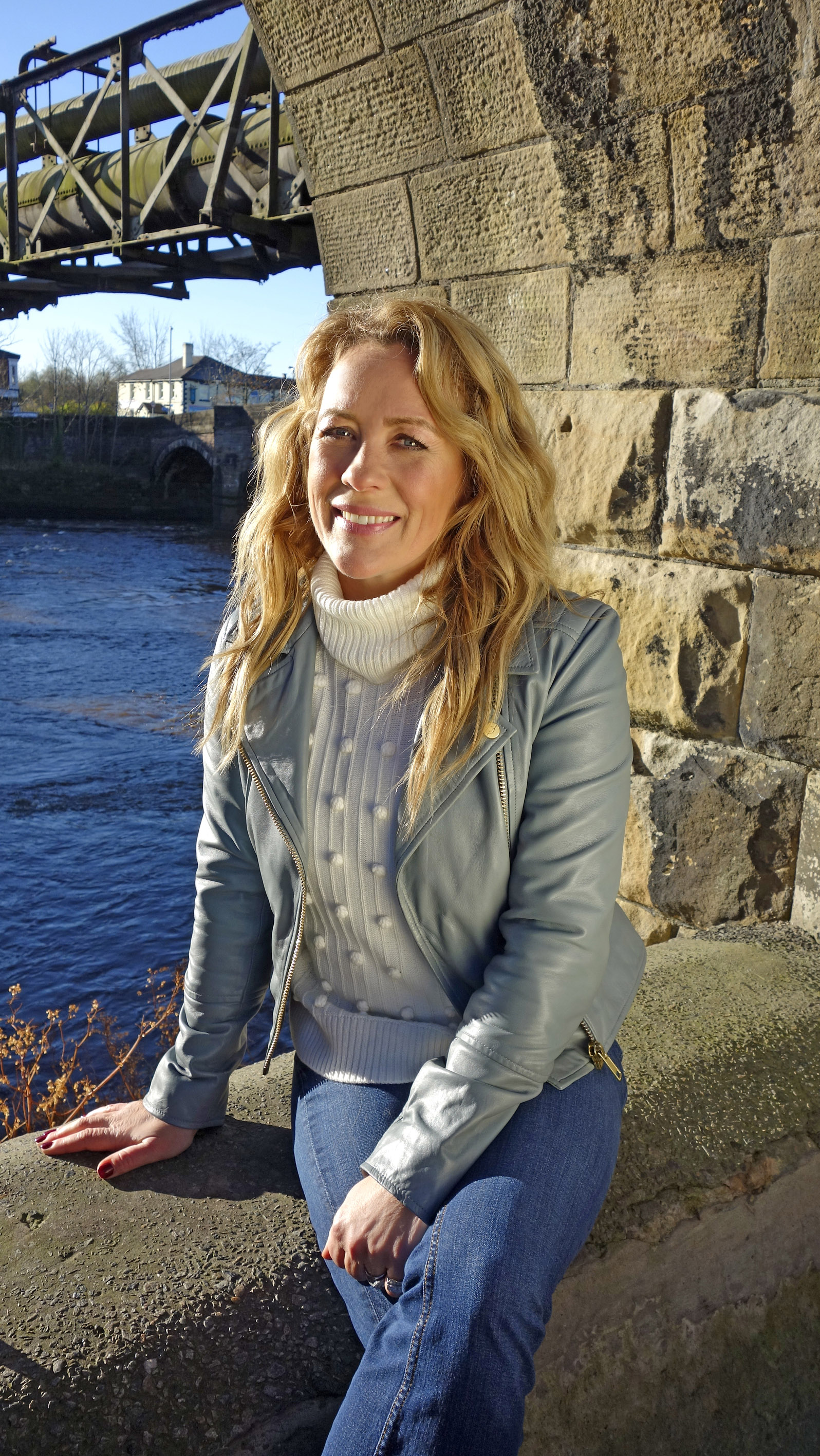Sarah Beeny filming 'UK's best place to live' in South Ribble. Pic, Channel 4 publicity