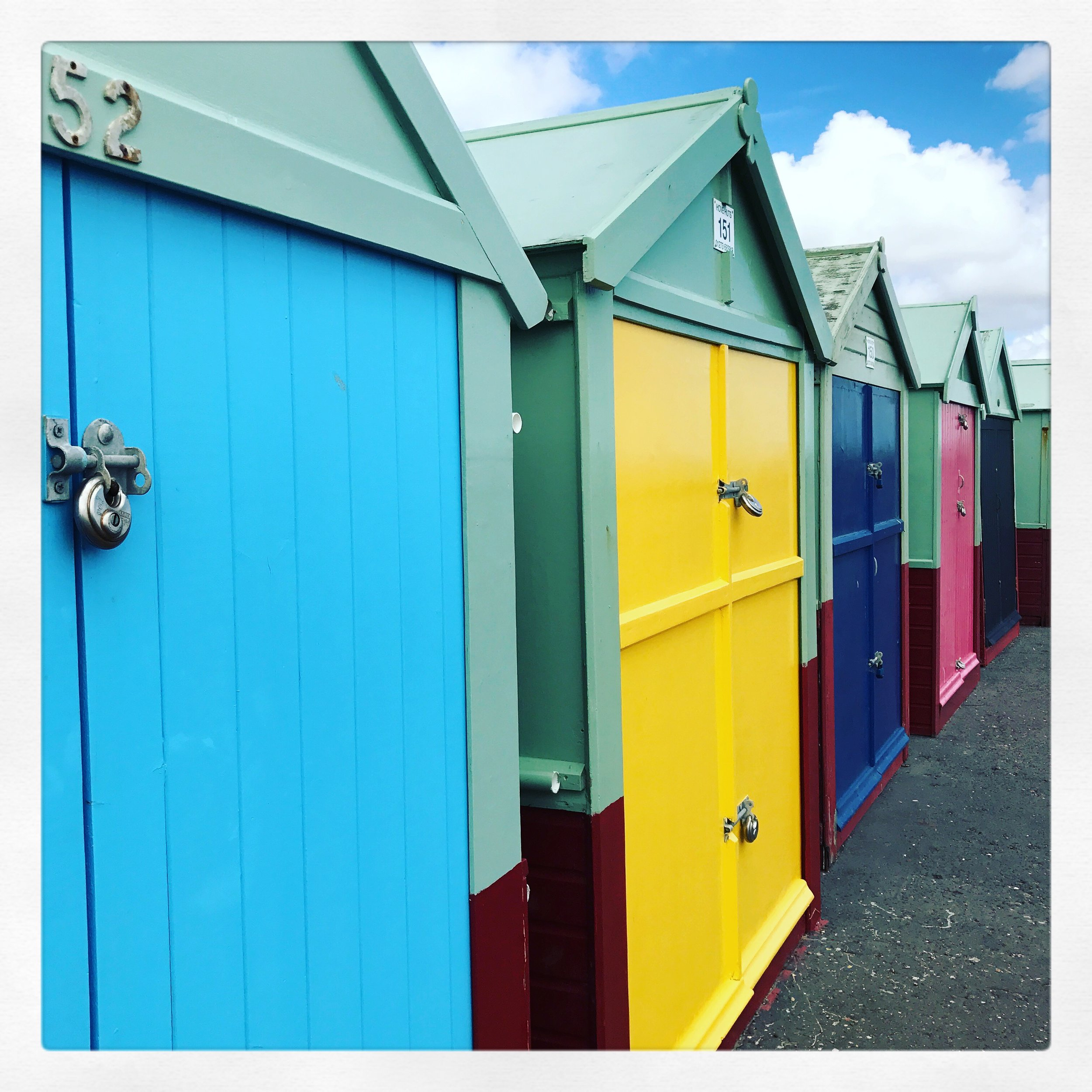 Beach huts at Brighton and Hove