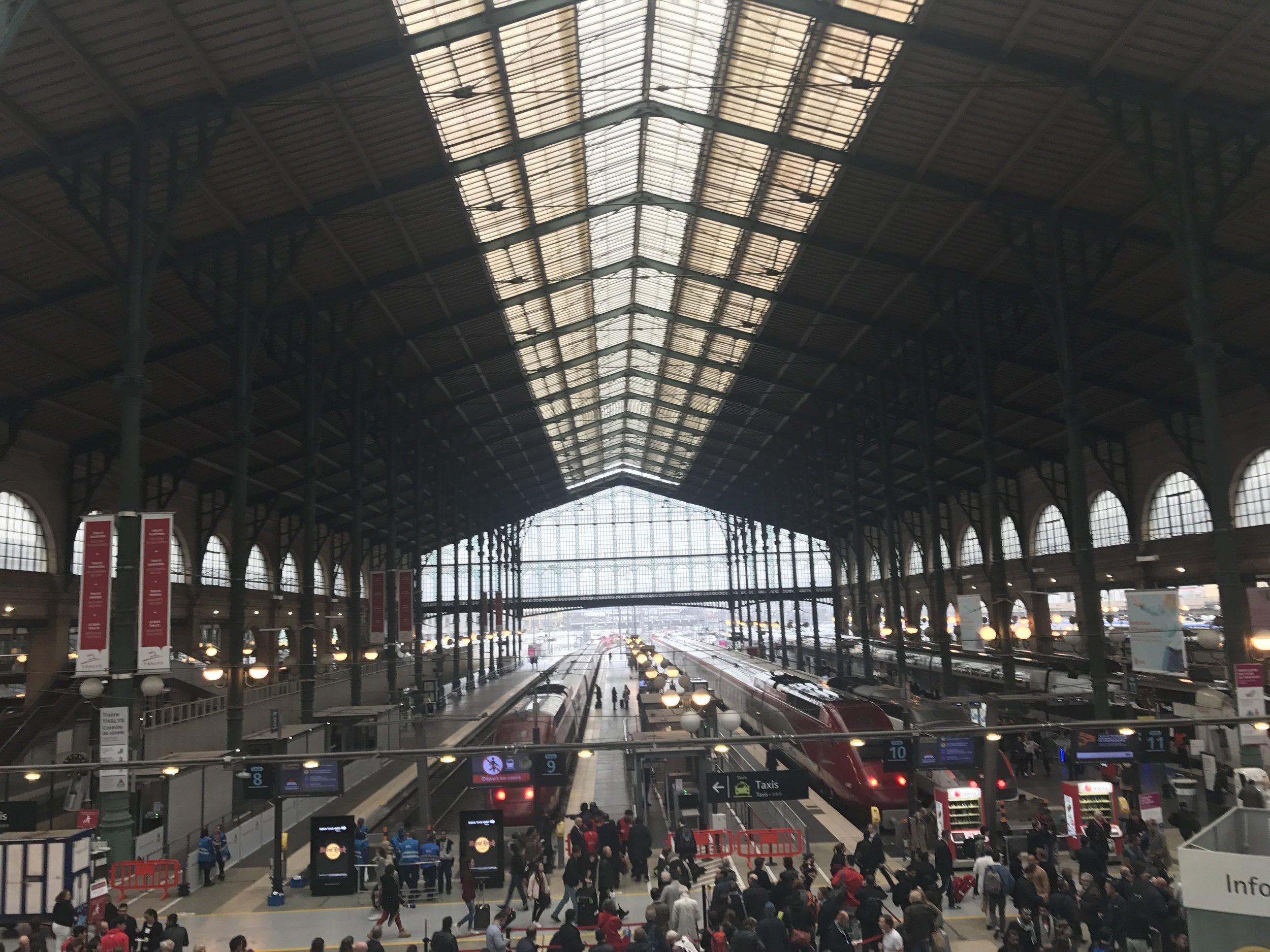 Gare du Nord: Eurotunnel station.Picture @jabberingjourno