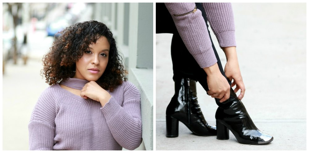 what to wear on a cool spring day, black Zara boots, ootd by style blogger Miriam Morales
