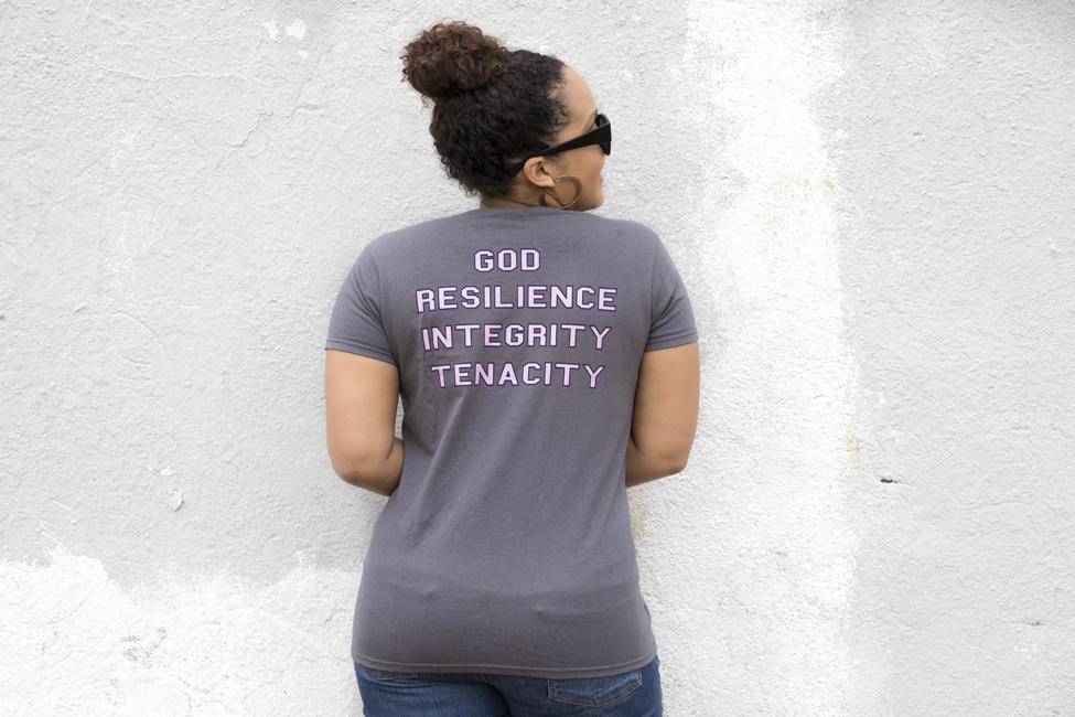 gray tshirt - women empowerment