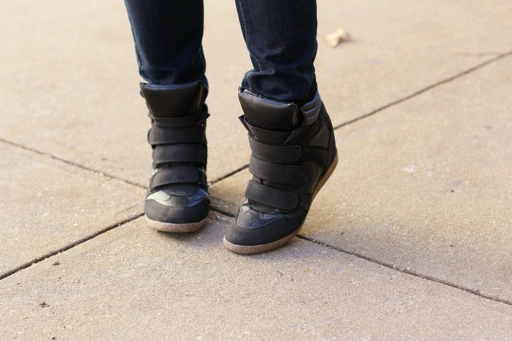 weekend attire wedge sneakers