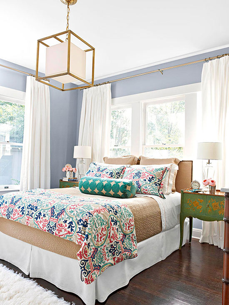 bedroom decor, how to decorate a bedroom, colorful bedroom decor