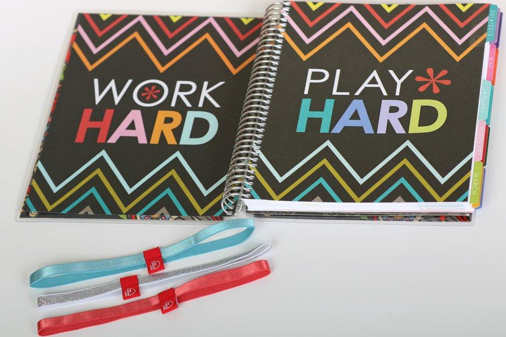 word hard, play hard life planner