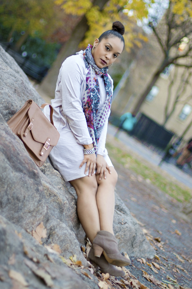 SheInside beige sweater dress