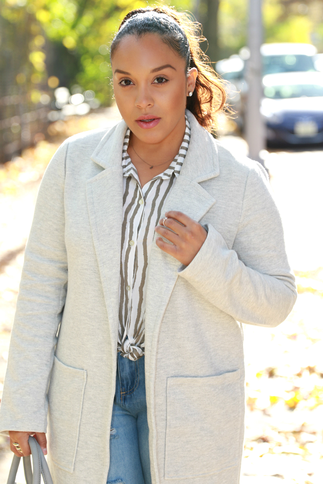 Forever 21 gray pocket coat