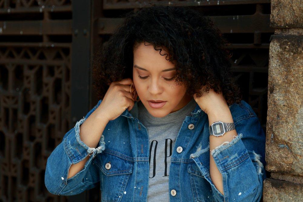Raw Hem Denim Jacket, style blogger Miriam Morales