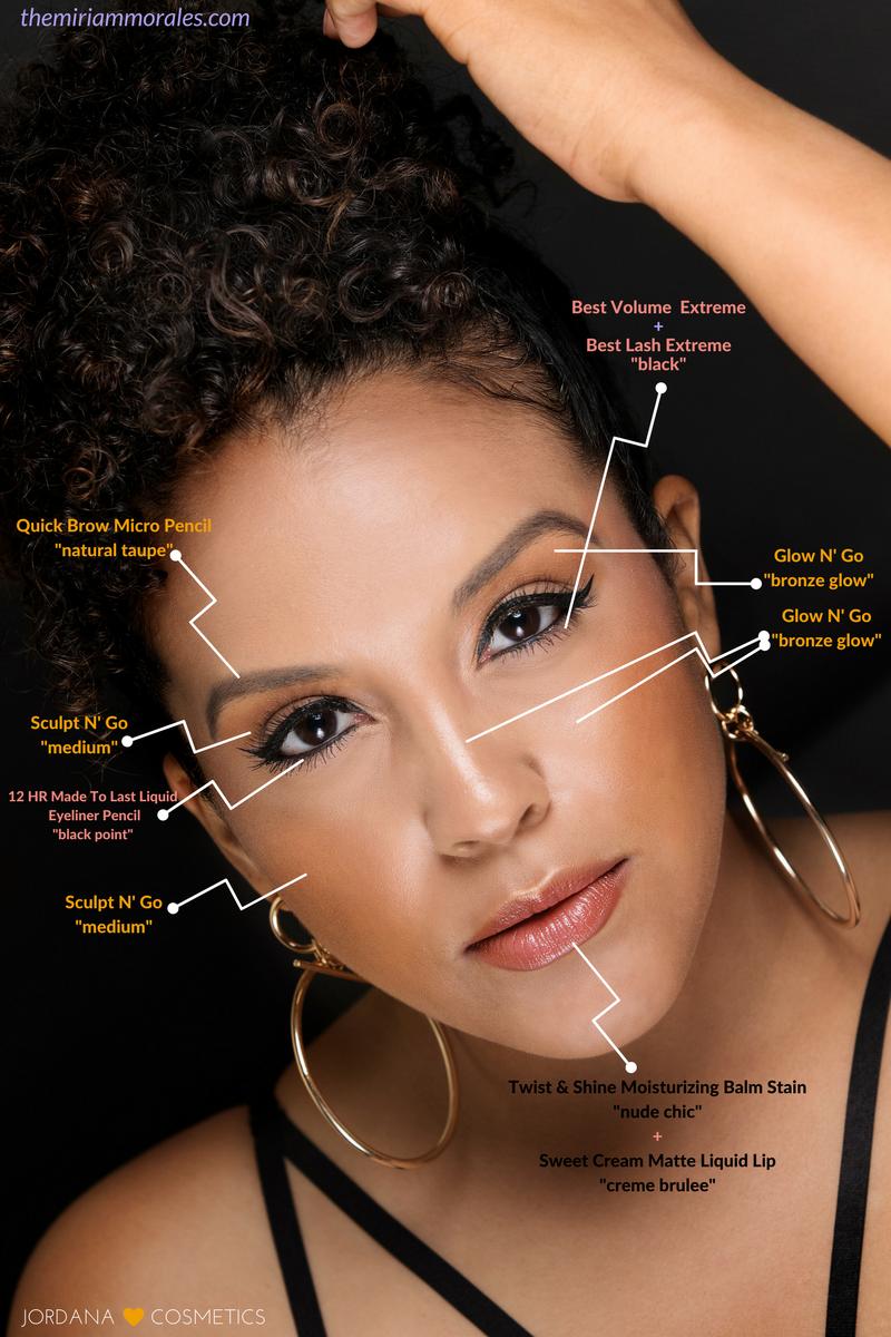 Jordana Cosmetics Makeup Guide - Beauty Blogger - Miriam Morales