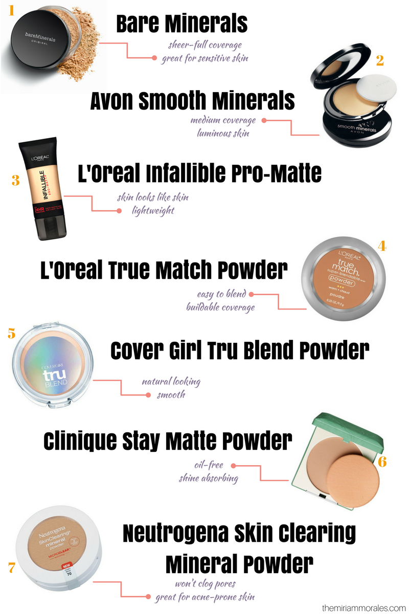 Best foundation for oily skin, acne-prone makeup - beauty blogger Miriam Morales