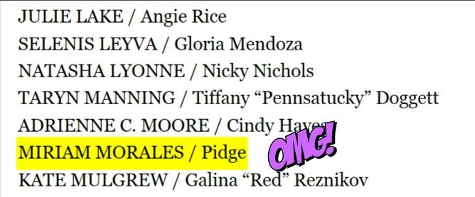 Miriam Morales, Pidge, 2018 SAG Award nominations - Orange Is the New Black