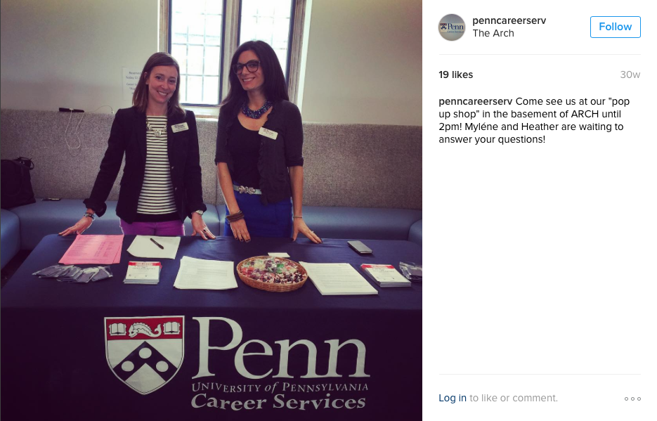 Penn Career Services Pop Up Shop