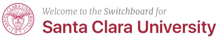 Santa Clara University Switchboard