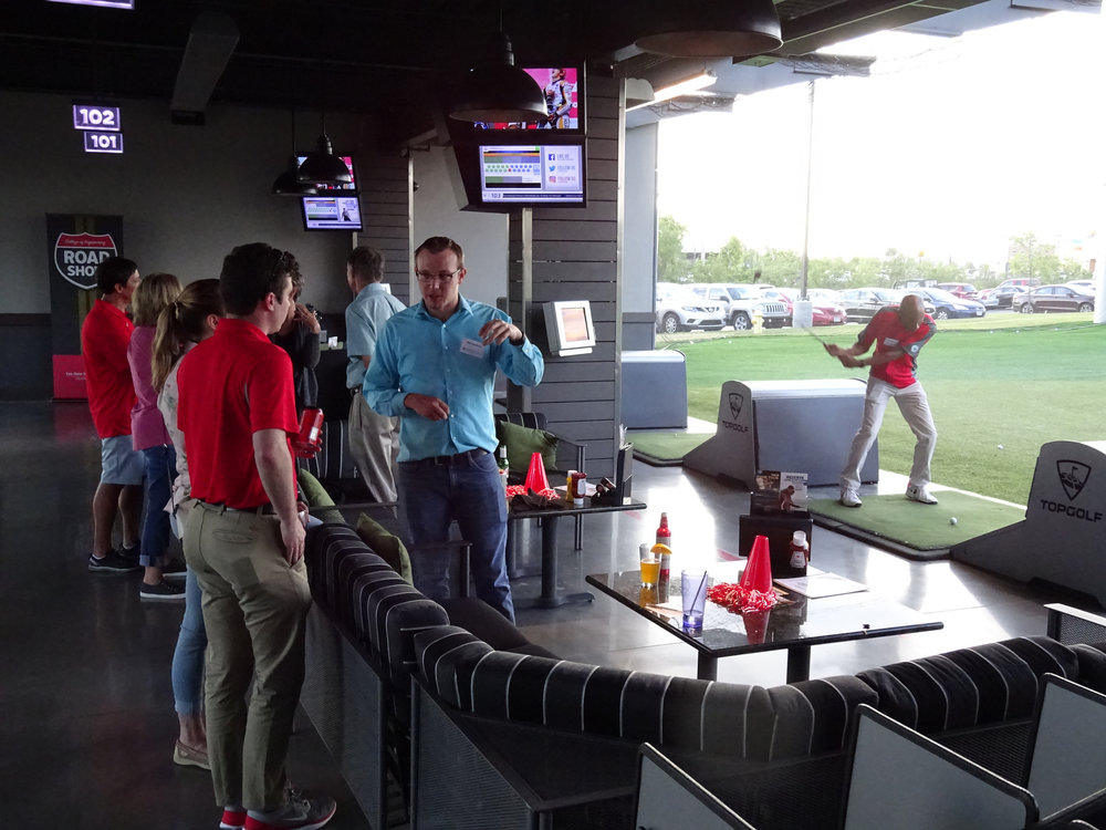 A 2017 Dean's Road Show stop at a driving range in Cincinnati.