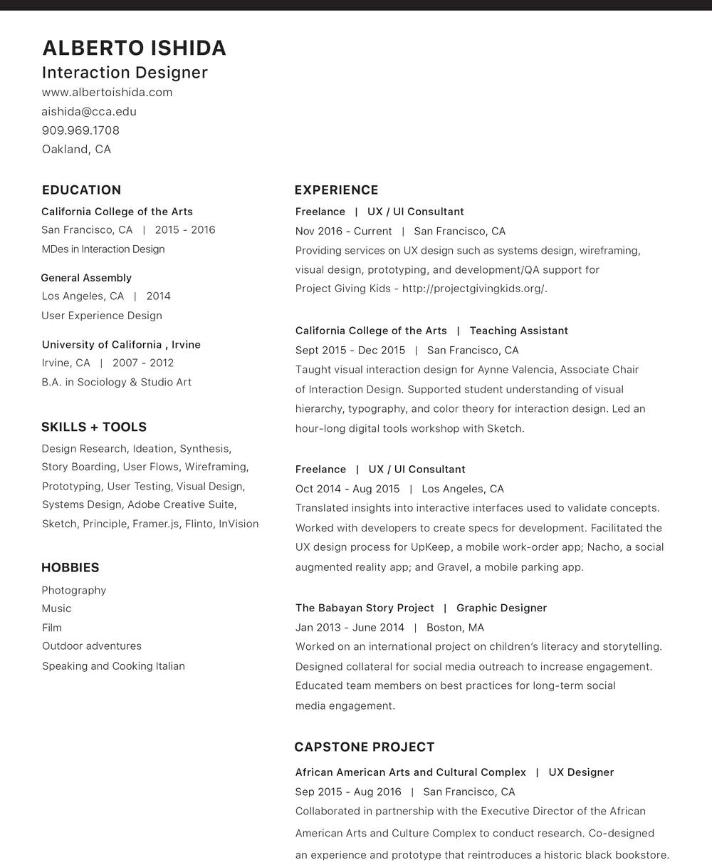 Resume — Alberto Ishida