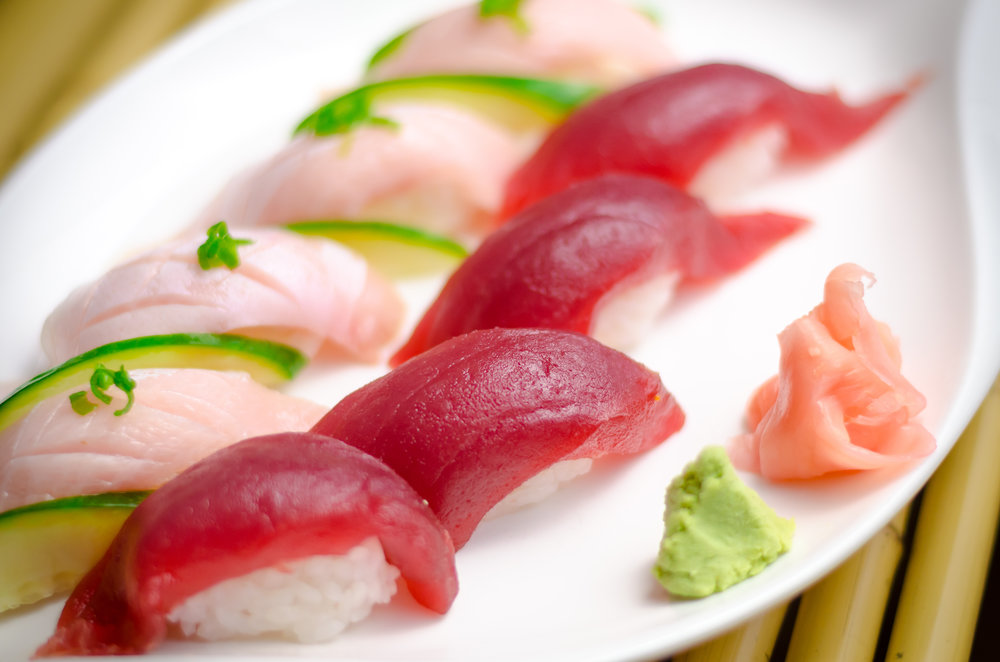 Maguro and Hamachi Nigiri 6.jpg