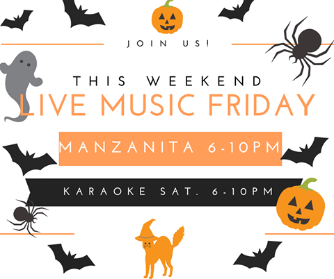 Ninja Families, join us this weekend for live music Friday by Manzanita 6PM-10PM, and Karaoke Saturday 6PM-10PM   #DowntownRoseville  #NinjaRoseville