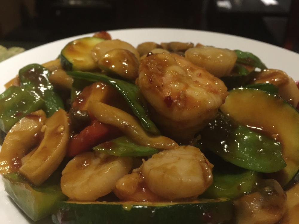 Szechuan Shrimp & Scallop Sautéed