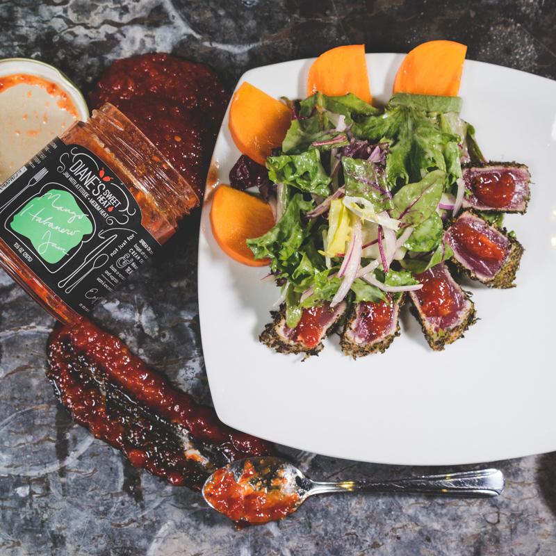 Seared Tuna | Persimmon | Mango-Habanero | Mixed Greens