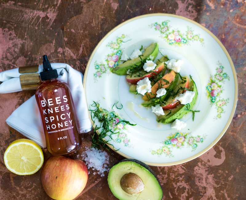 Apple + Avocado Salad | Goat Cheese | Chili Honey Vinaigrette