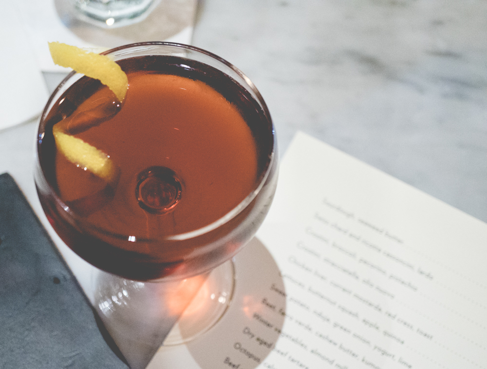 Cynarnold Schwarzenegger: Old Forester Signature Bourbon, Cynar, Angostura, Regan's Orange